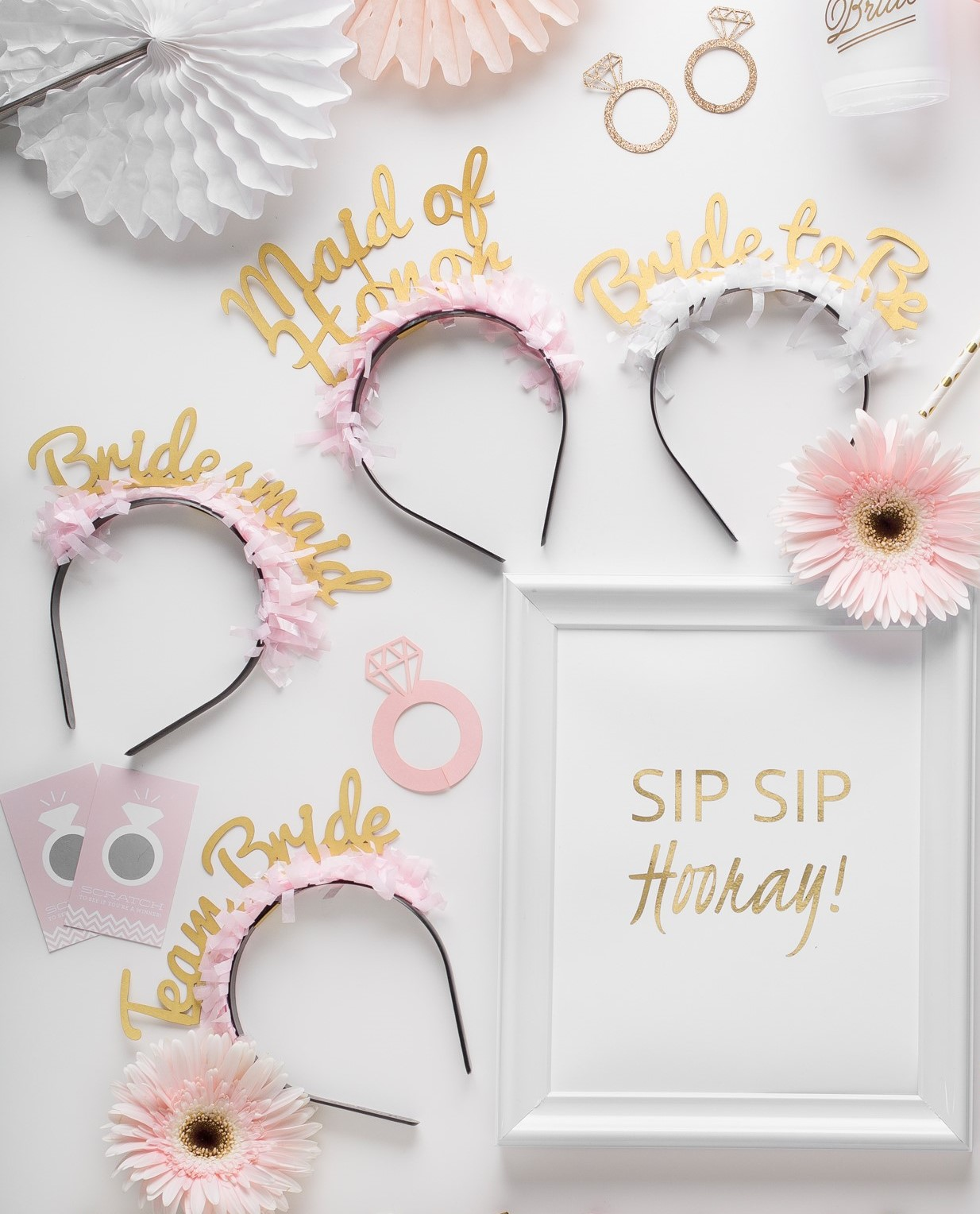 Party Up Top Headbands: Bridal Pack - Little Shop of Wow